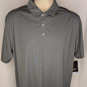 Nike Men's Gray Golf Polo Dri Fit Large ARG NWT